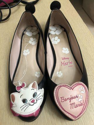 瑪麗貓黑色皮鞋