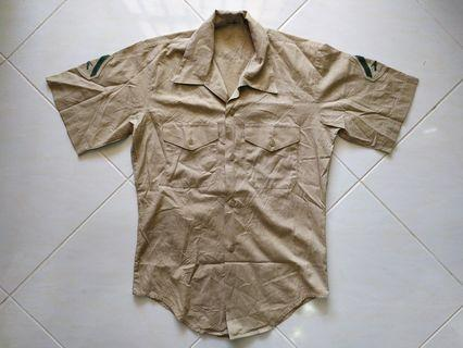 Vtg 80's US Army officer Lance Corporal rank kemeja askar