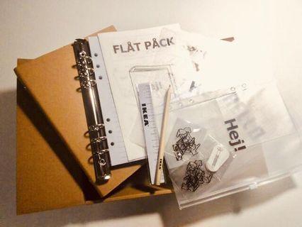 (全新) Ikea 宜家 flat pack 限量 DIY 6孔筆記本