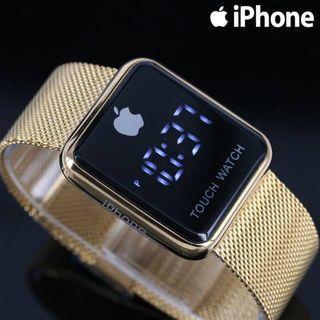 JAM TANGAN APPLE WATCH GOLD  Rantai pasir halus digital apple diameter 4cm