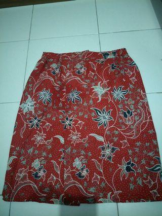 Rok batik ukuran M