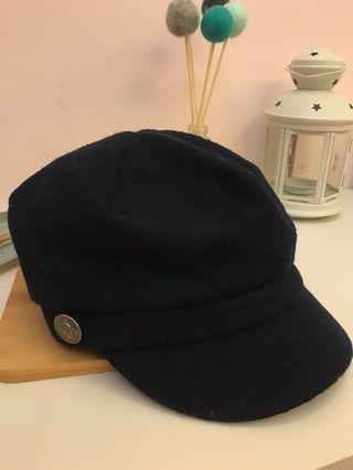 全新深藍報童帽