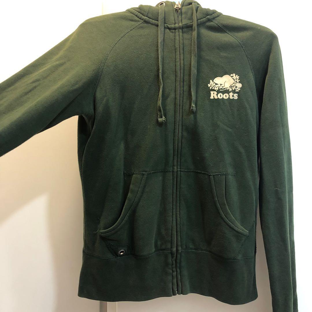 原價快4000‼️Roots女綠外套