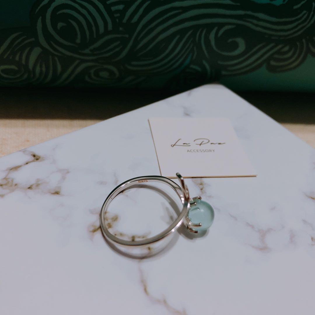 全新925純銀戒指 魚尾 美人魚的眼淚