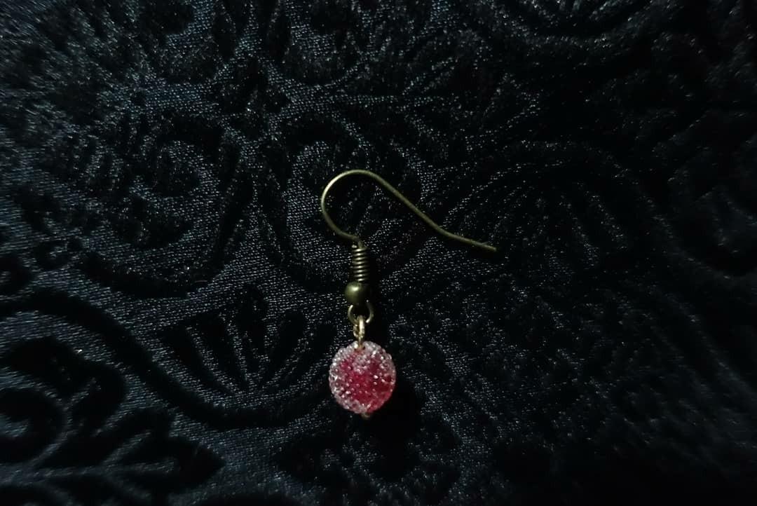 手作 耳環 金平糖系列-樹莓