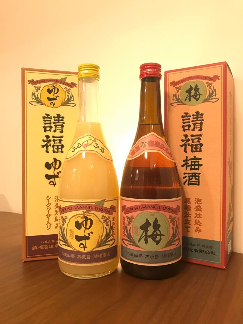 請福 - 泡盛 - 黑糖梅酒 & 柚子酒