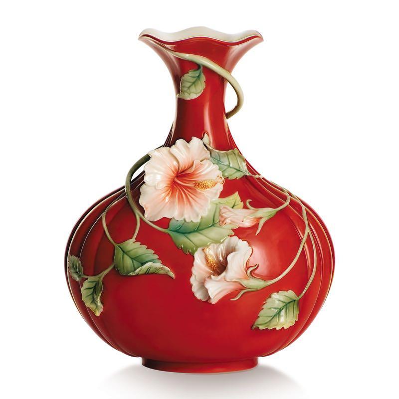 (全新)專櫃正品 法藍瓷 franz 旺富木槿 花瓶 瓷瓶 FZ00984