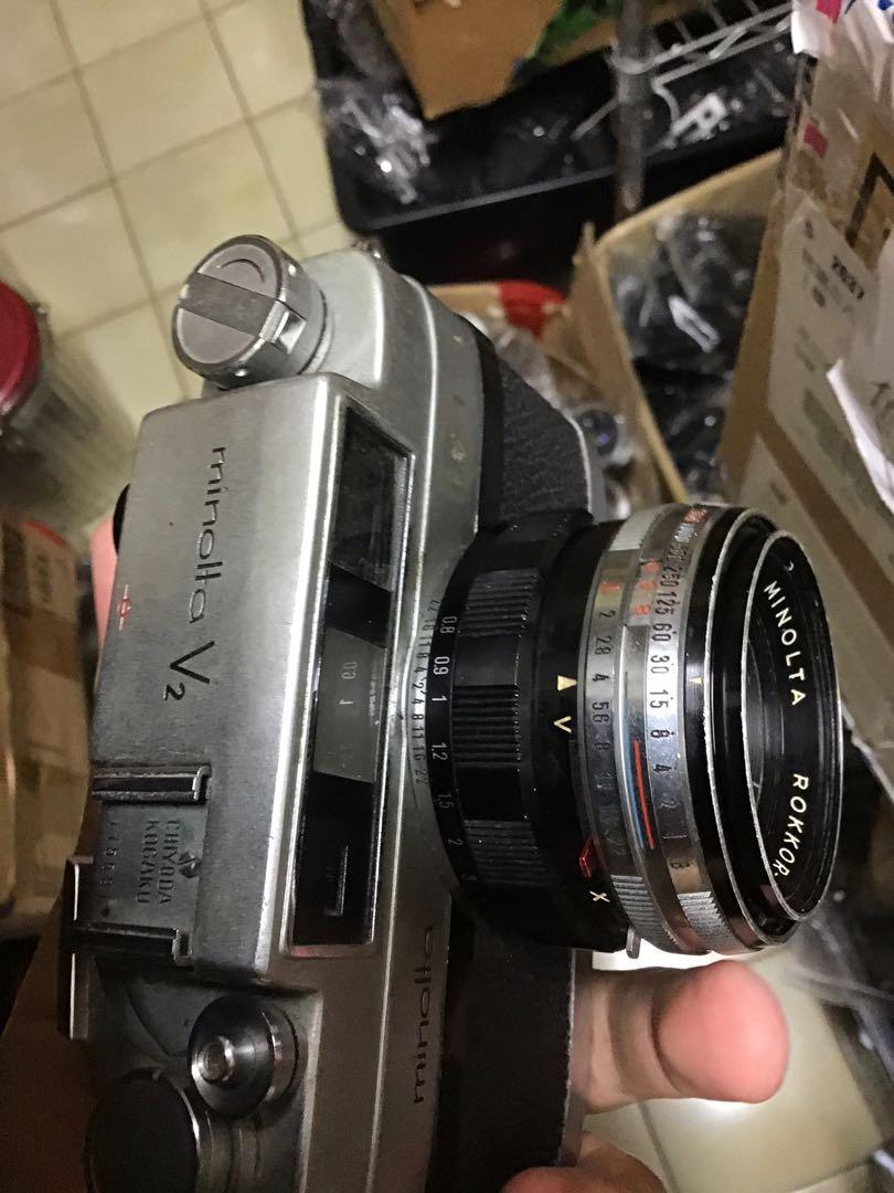 底片 單眼相機 Minolta v2 f2 鏡頭 機械 七成新