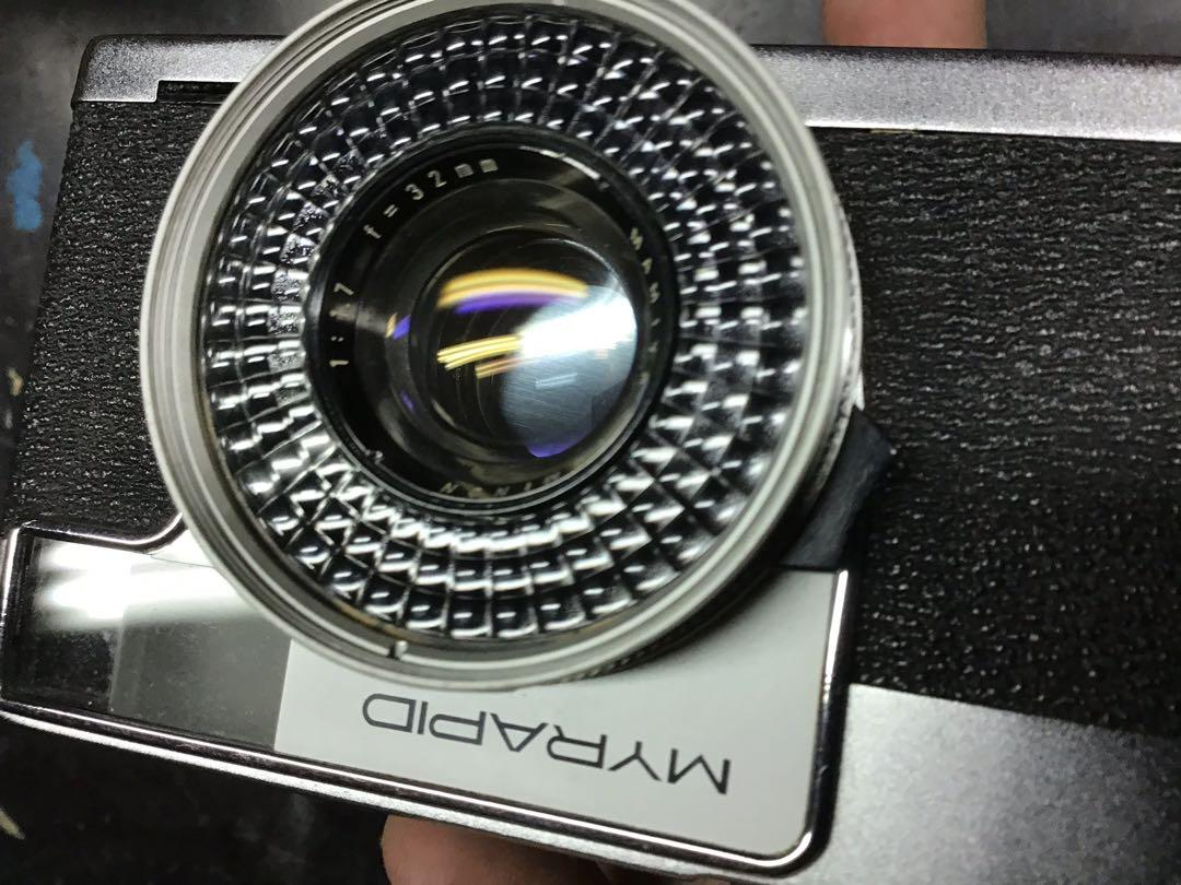 底片 單眼相機 Myrapid f1.7 稀有 含前蓋 手腕帶 稀有 八成新