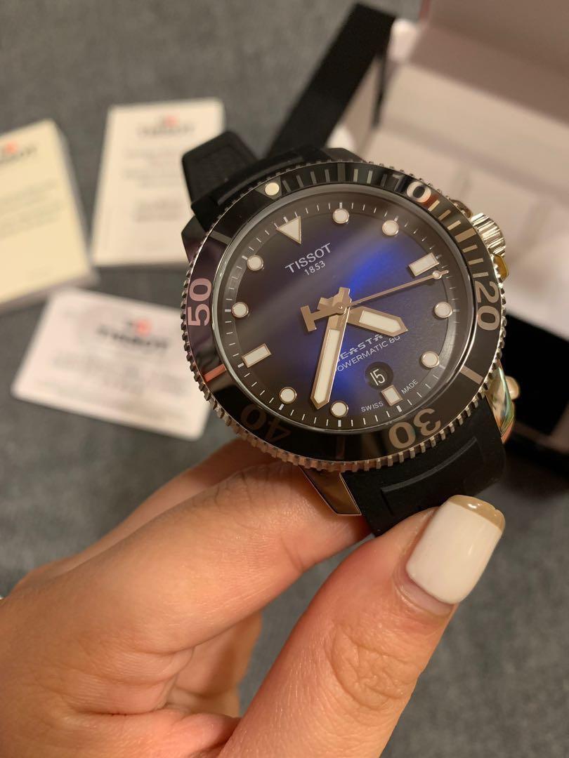 (他網售出🚫) 天梭 TISSOT Seastar 海星潛水機械錶 T1204071704100 43mm 黑 藍 潛水錶 機械 瑞士錶 自動上鍊 天梭