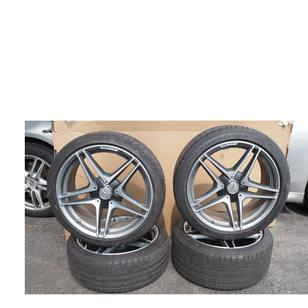 (OFFER!!) AMG 19'' MB W205 C63AMG 2018 ALLOY WHEEL STAGGERED RIMS WITH TYRES