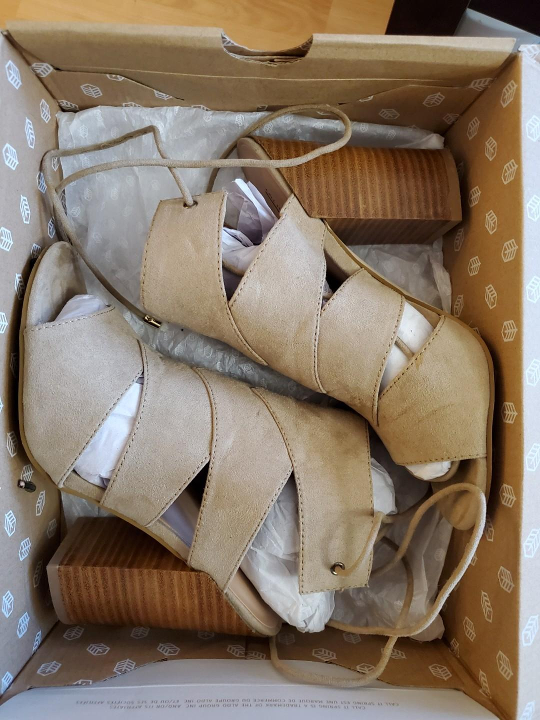 Asadolla beige suede heels. CALL IT SPRING. Worn once.