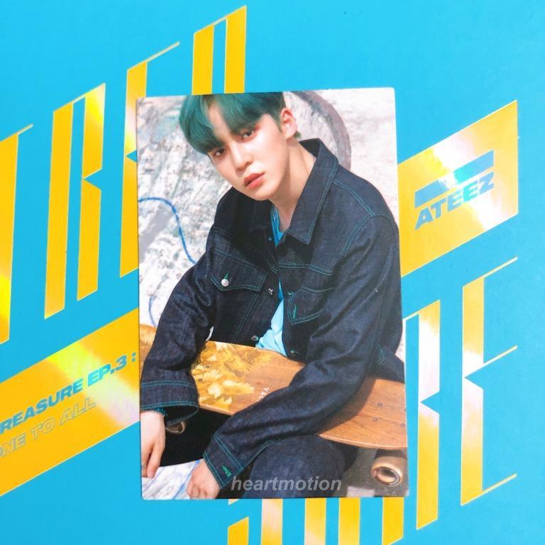 ATEEZ(에이티즈) Mini Album - TREASURE EP.3: ONE TO ALL [Wave] - Yunho Photocard