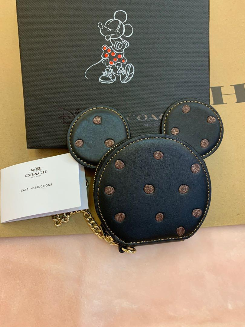 Authentic coach Mickey head coin pouch ready stock