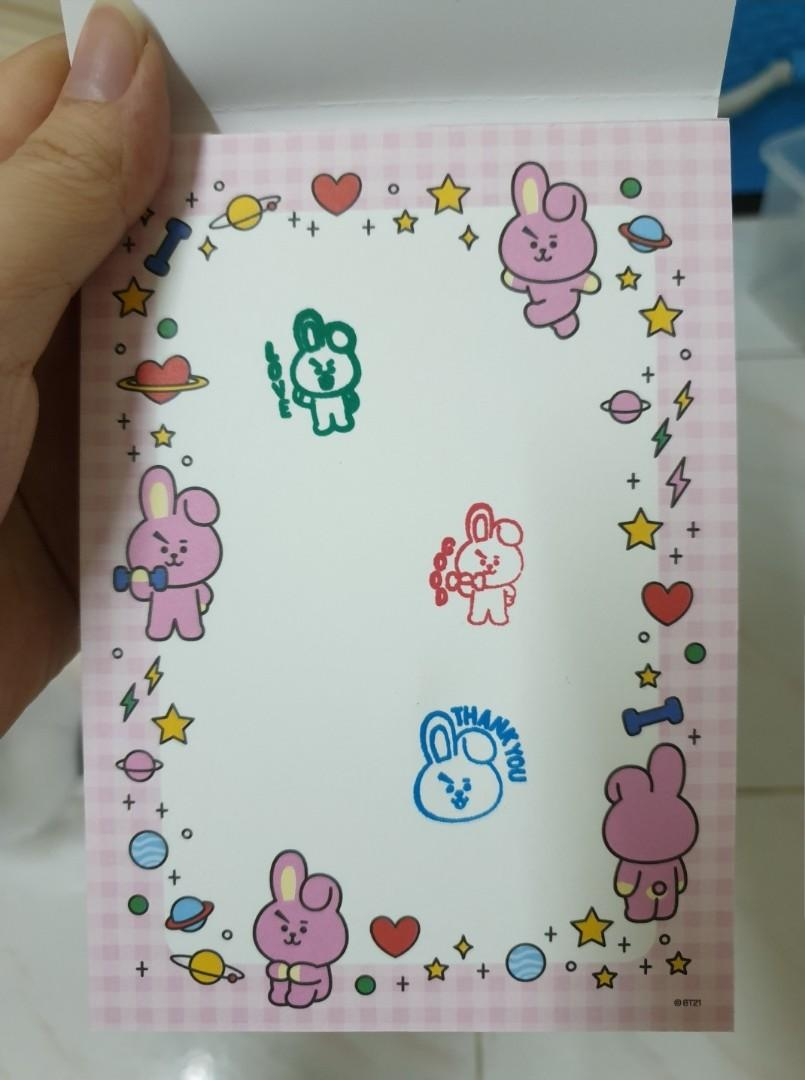 Bt21 ink stamp three piece cooky bts jungkook Official