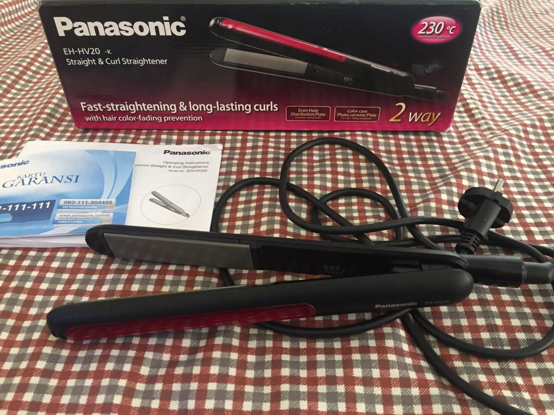 Catokan Panasonic EH HV20 straight & curl straightener