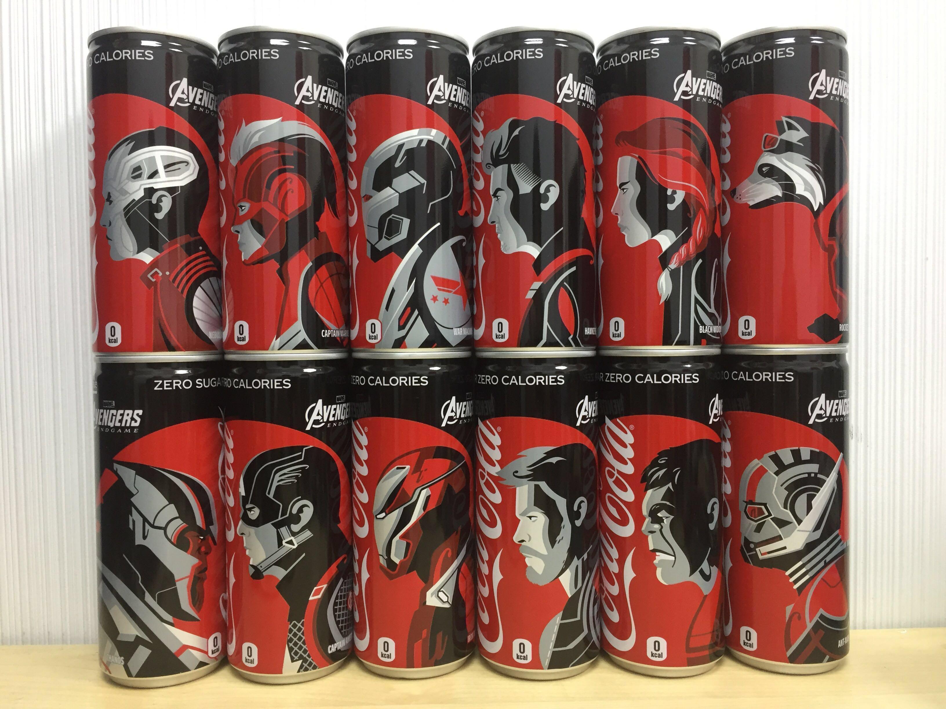 Coca-Cola x Marvel Avengers 日版一套