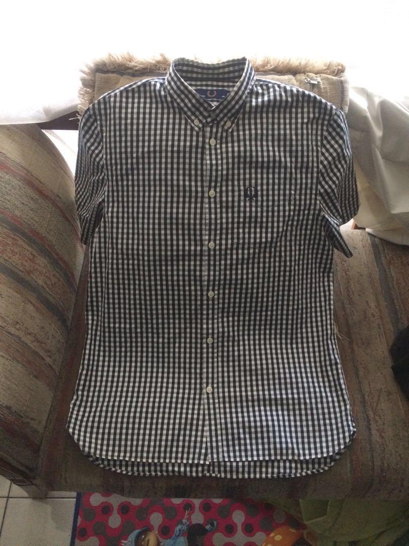 Fred Perry Gingham Short Shirt checkered not lacoste wtaps