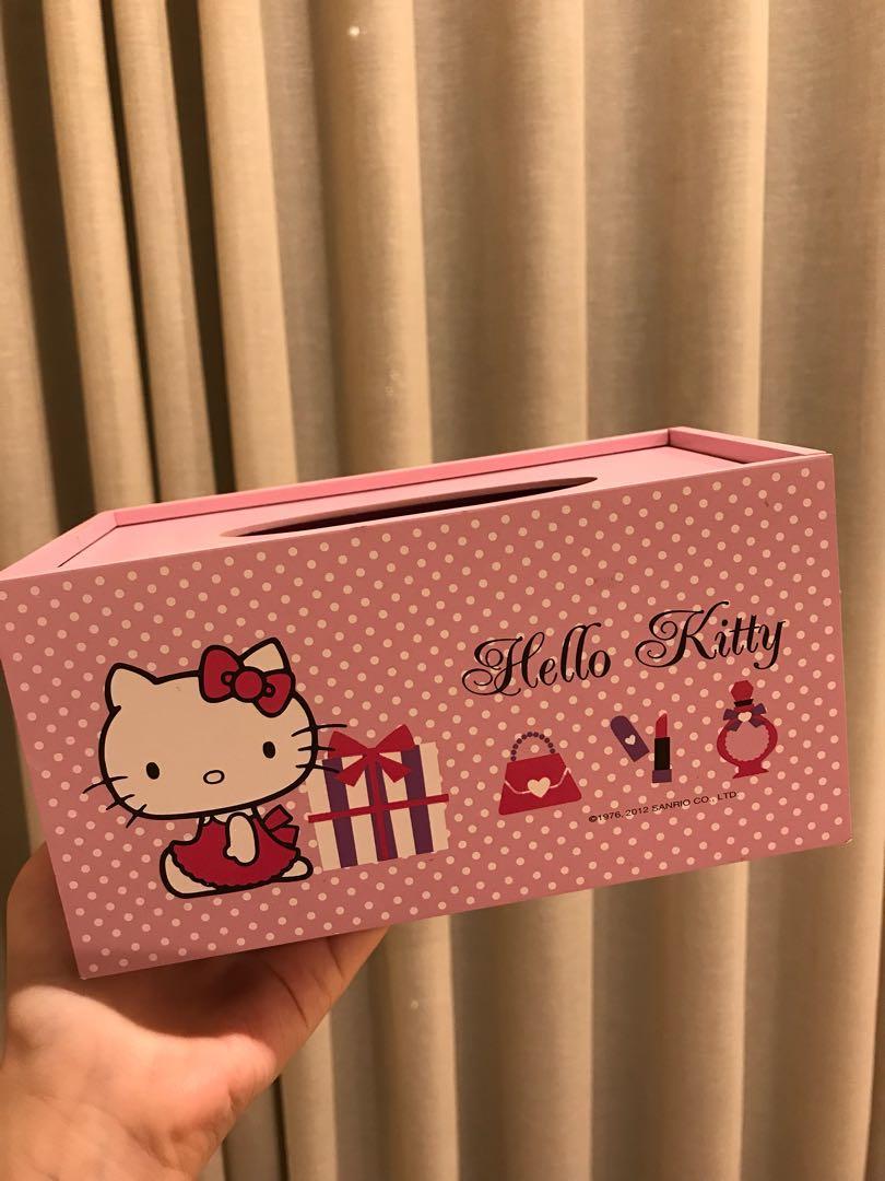 Hello Kitty 木製面紙盒
