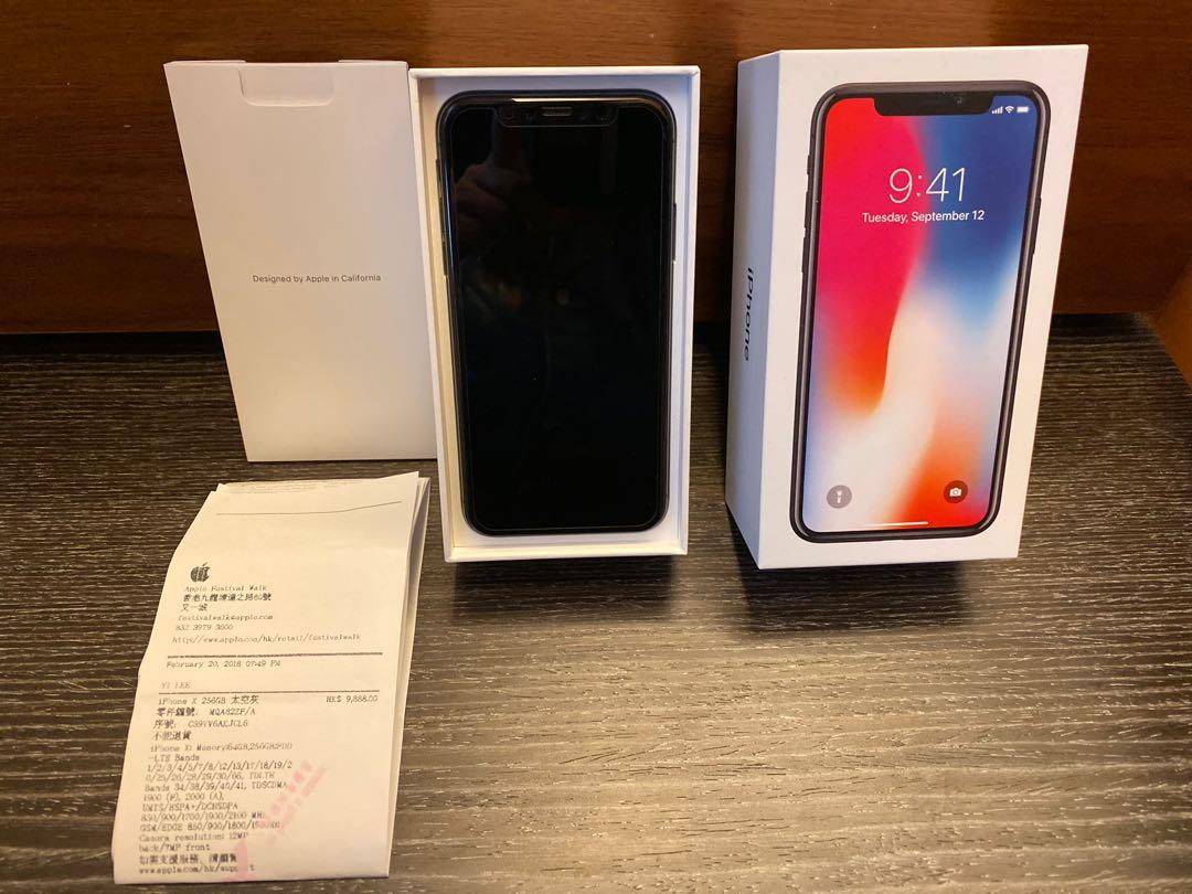 Iphone X 256GB Grey 99%condition with charger and earphone