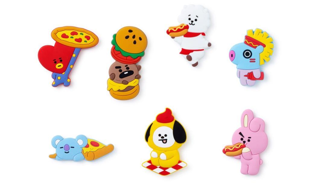 Japan BT21 Line Friends order magnet /sticky notes / pouch
