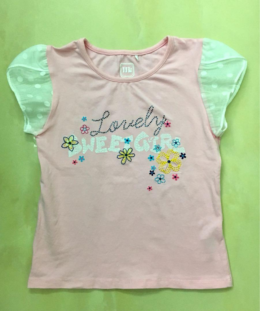 JJL Kids 蕾絲荷葉滾邊袖120cm 新加坡專櫃正品(近全新)便宜賣