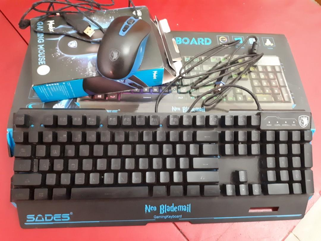 Keyboard & mouse sades Neo Blademail