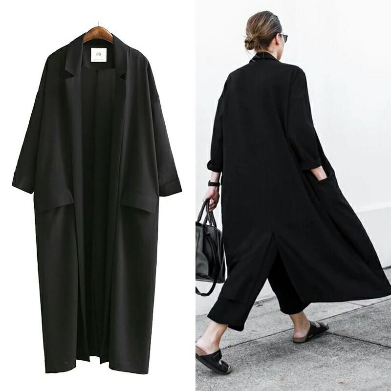 Long designer summer coat collection