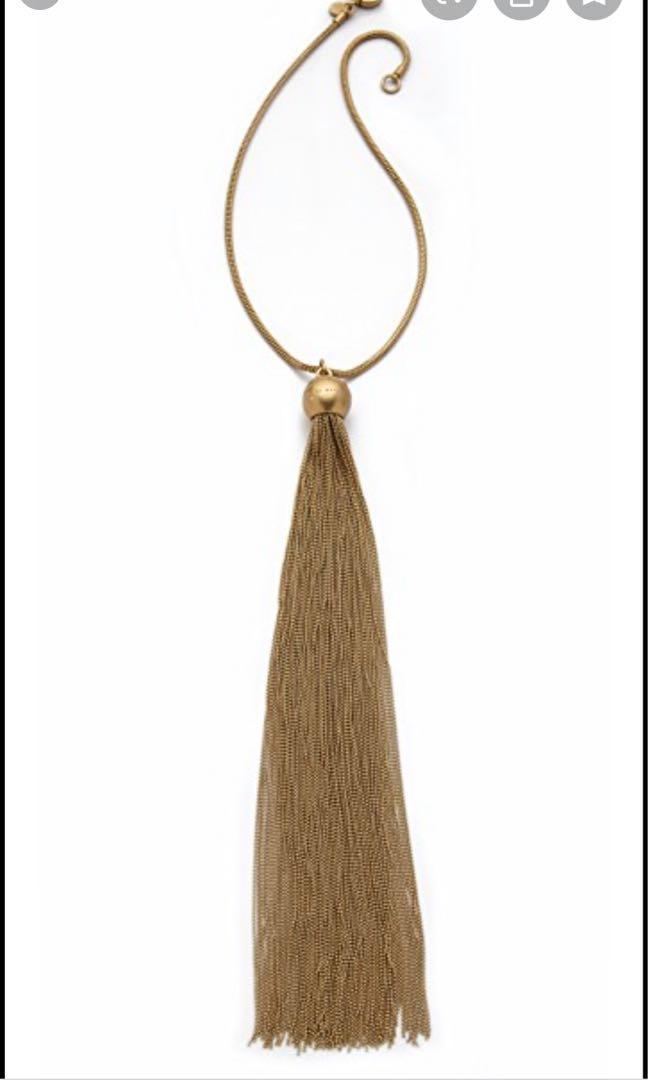 Marc jacob tassel necklace