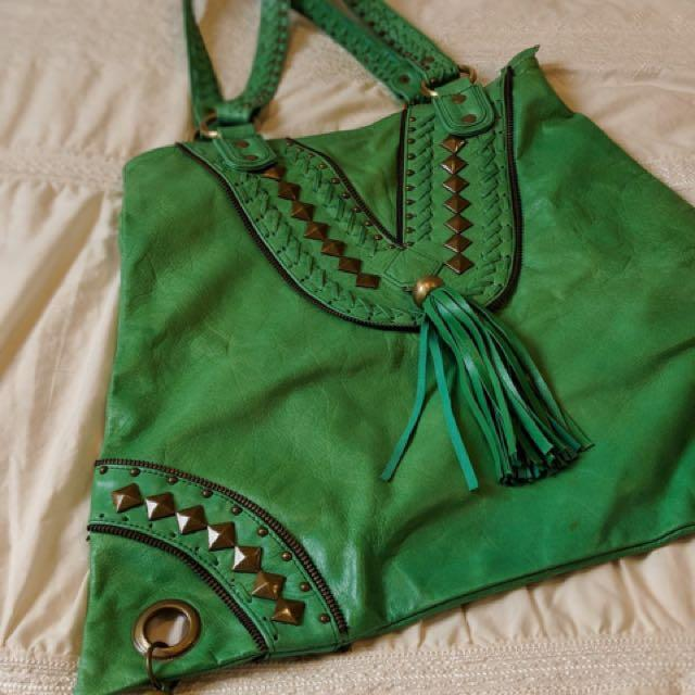 New 100% leather large tote bag made in Bali