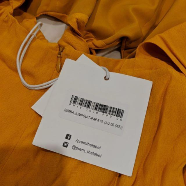 New with tag - Prem Label jumpsuit - size 6