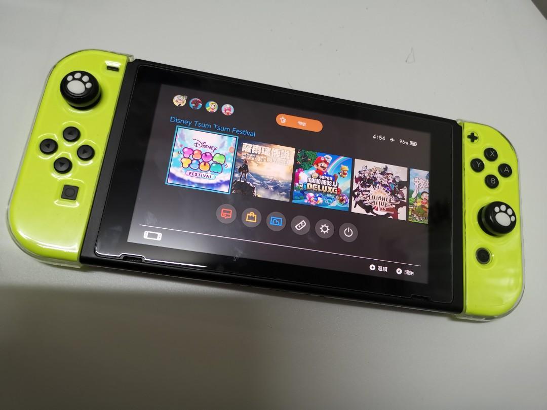 全新nintendo switch Disney tsum tsum fifa20 大氣9.0.1 救3ds黑屏變磚