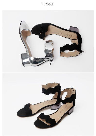 *NWOB* Staccato sandals with ankle strap in black suede (best fits US 7)