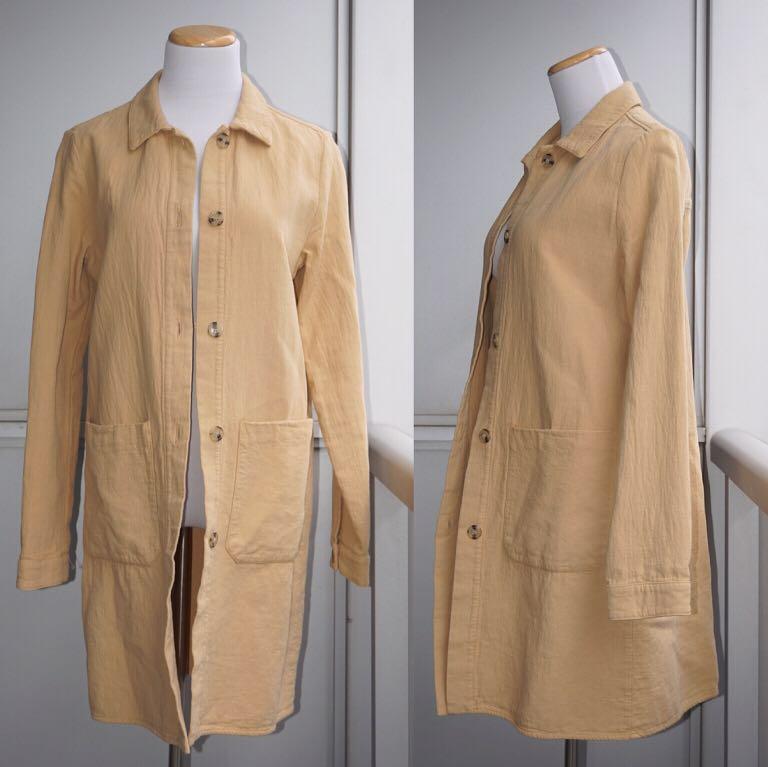 *NWOT* Zara 100% Cotton Trench Style Coat Women Size S
