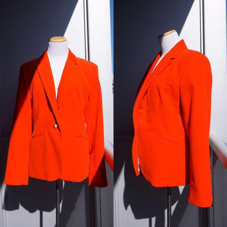 *NWT* J. Crew 100% cotton Campbell Blazer in Red Corduroy women's size 12