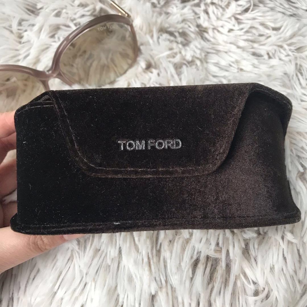 *Perfect Condition* Tom Ford Rhi TF252 33G Sunglasses in Brown / Gold