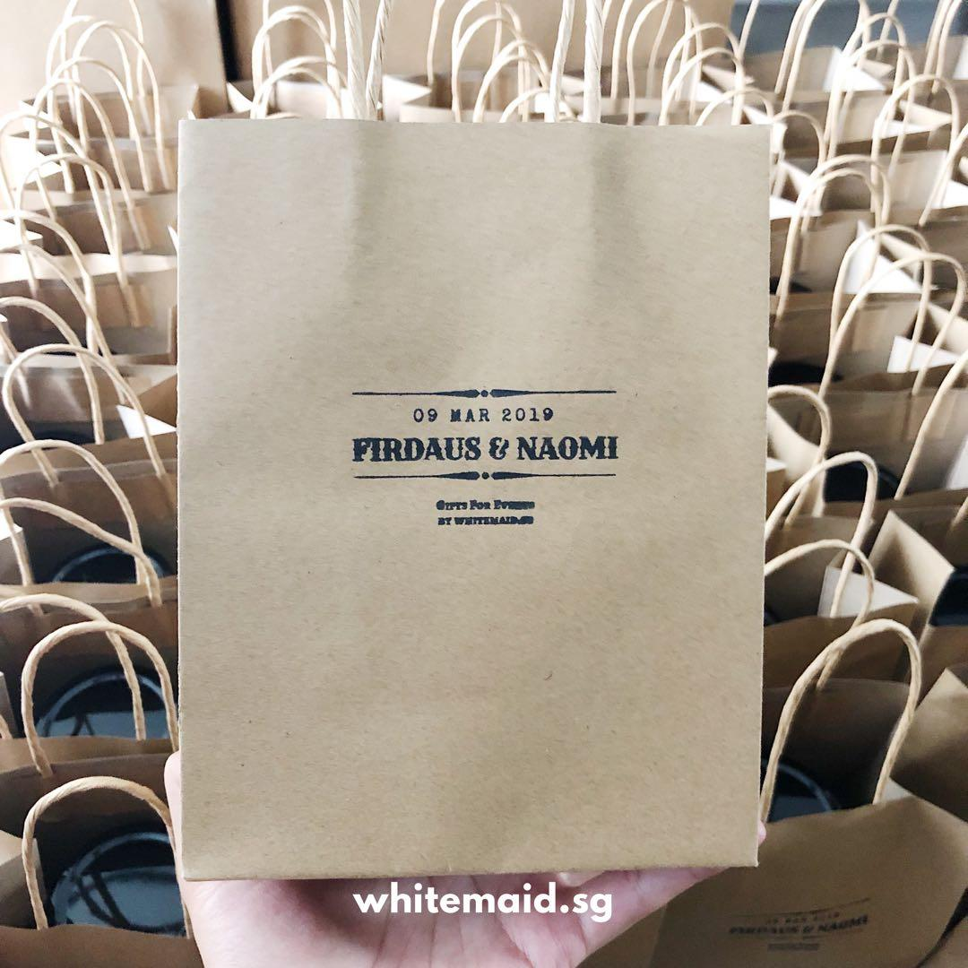 Personalised Stamp Kraft Paper Bag