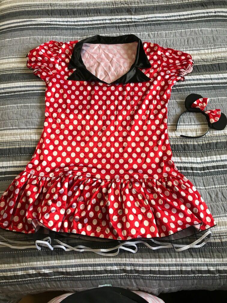 Plus size Uk 16 Minnie Mouse costume
