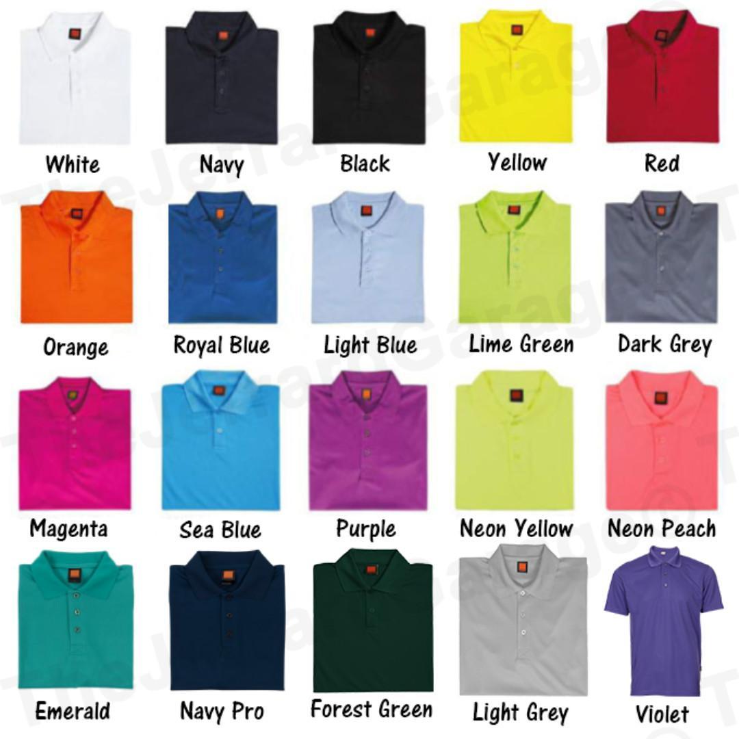 Polo Collar T-Shirt Printing Customization Service