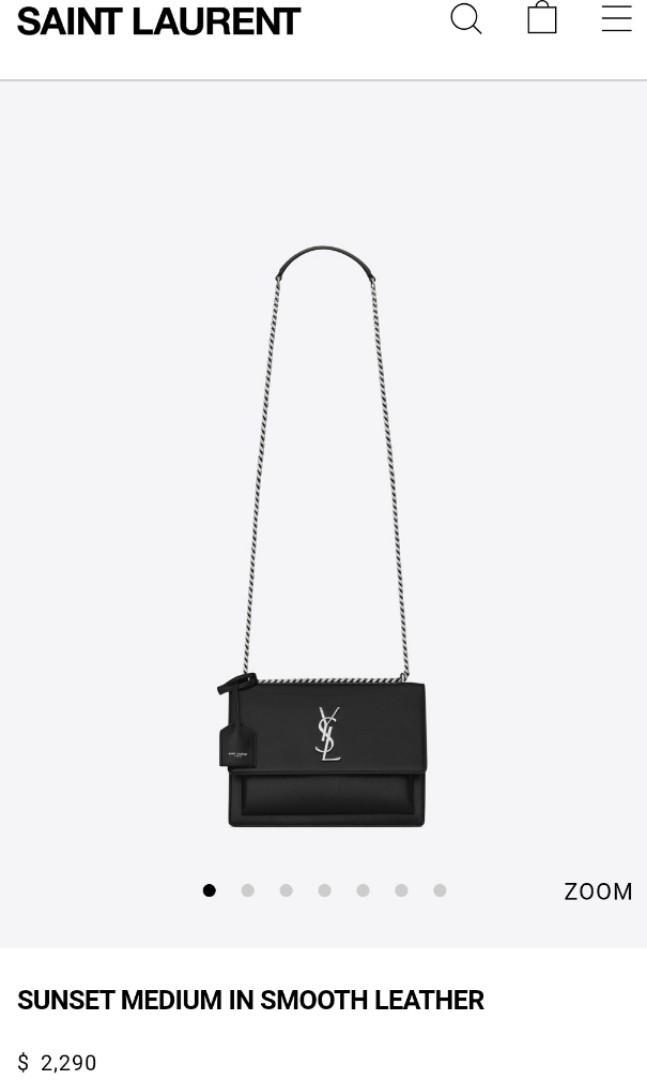 SAINT LAURENT  ysl logo sunset medium in smooth leather