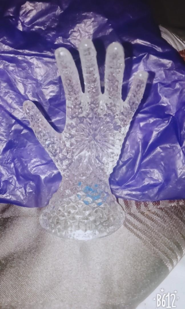 Set of Crystal Ring keeper & boots accessories for dresser