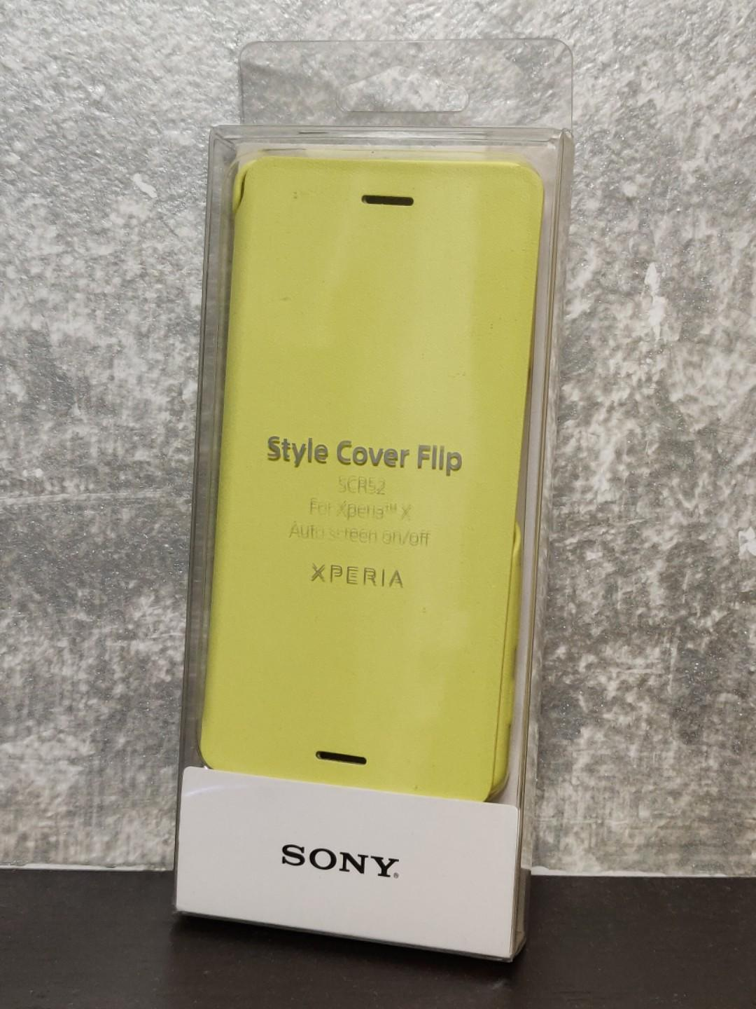 Sony Xperia X Original Style Cover Flip Case Yellow