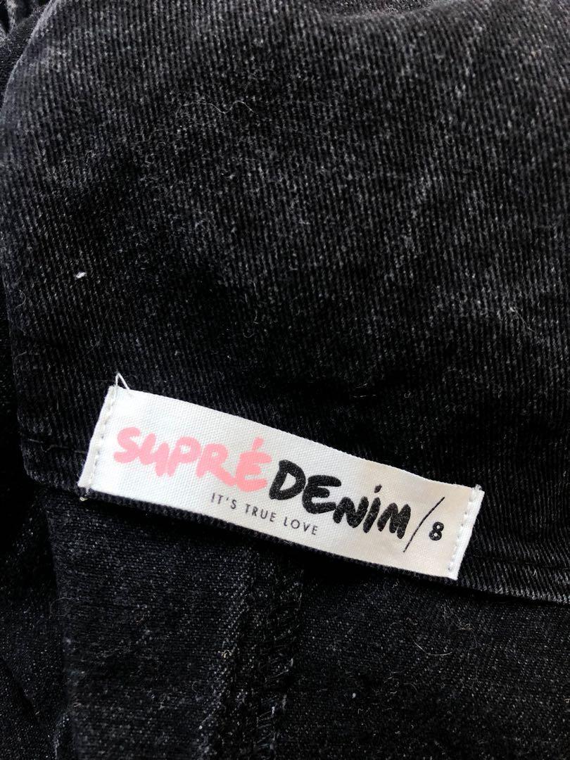 Supre denim overall skirt