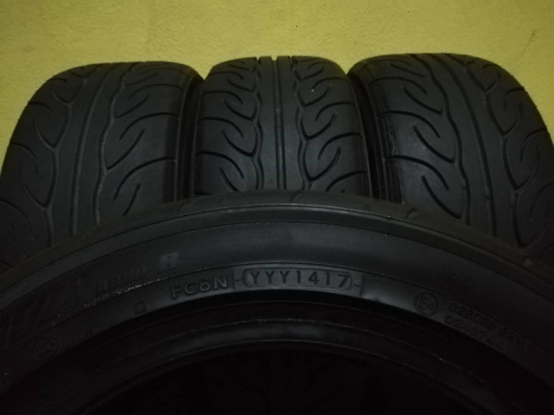 tayar yokohama advan neova size 195/55/R15  tahun 2017