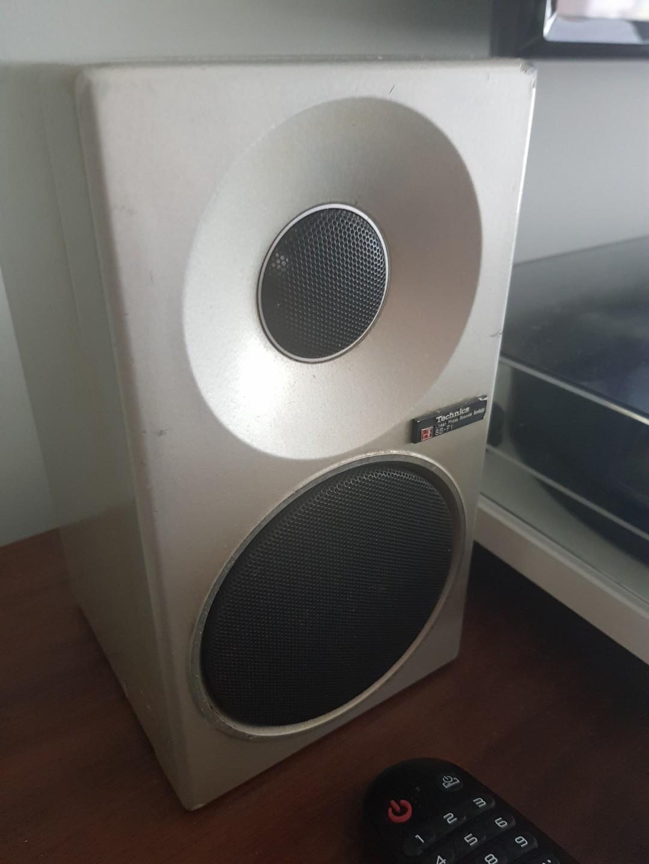 Technics Stereo integrated amplifier SU-C04 and SB-F1 vintage speaker pair