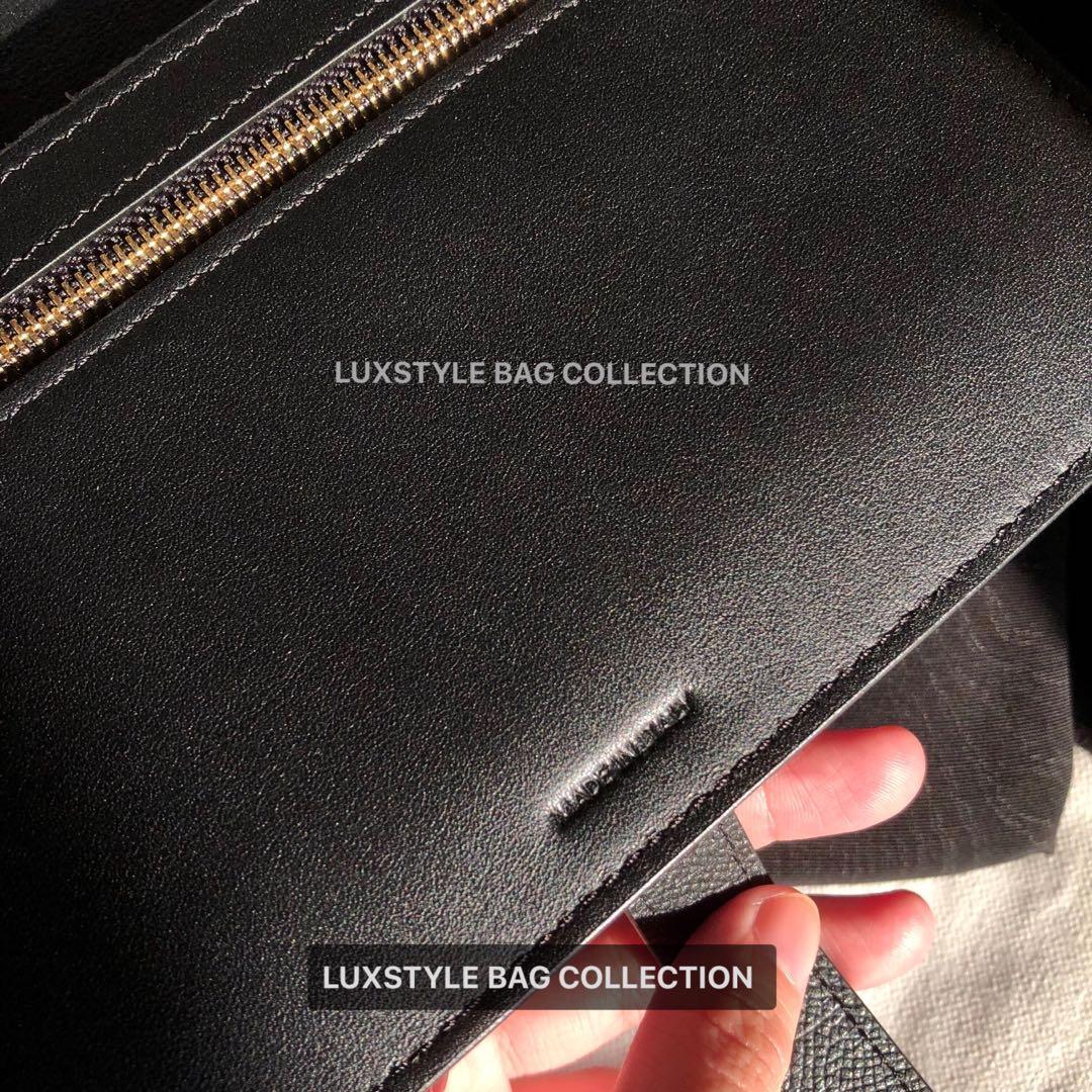 (Top Quality) Brand New Celine Large Multifunction Strap Wallet On Calfskin Black