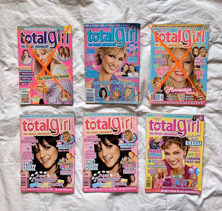 Total Girl Magazine 2004 - 2008 (each)