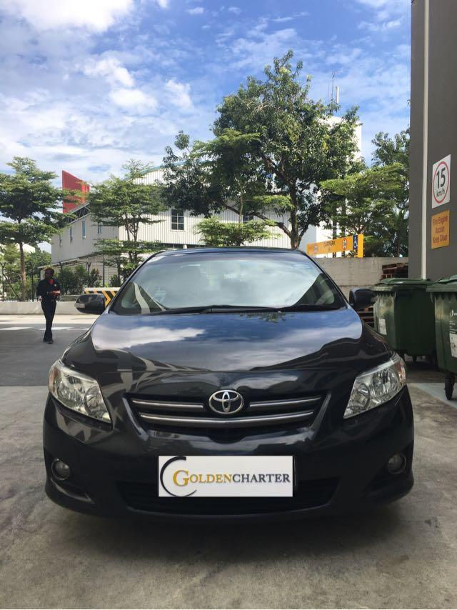 Toyota Corolla Altis 1.6 A For Rent! Weekly rebate for PHV avail!