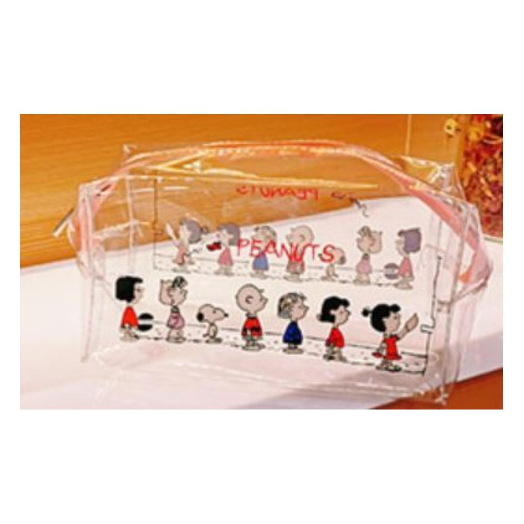 transparent waterproof large capacity makeup storage bag pencil case