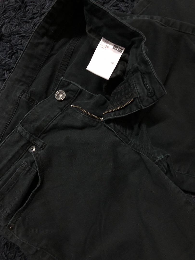 Uniqlo black jeans woman